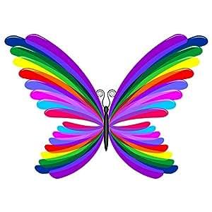 .com: Wallmonkeys WM92266 Butterfly Rainbow Abstract Design-farfalla