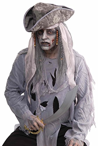 Zombie Pirate Adult Wig Halloween Costume Accessory