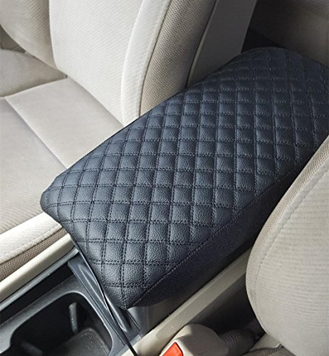 Leather Car Auto Center Armrest Console Lid Box Decor Cover Protector For 2005-2011 Nissan Pathfinder BLACK (Nissan Pathfinder Armrest Cover compare prices)