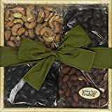 Golden State Fruit Savory and Chocolate Covered Nuts Gift Tray
