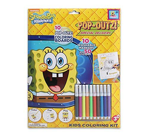 Spongebob Coloring Kit for Kids Featuring Pop-Outs for Play! - 1