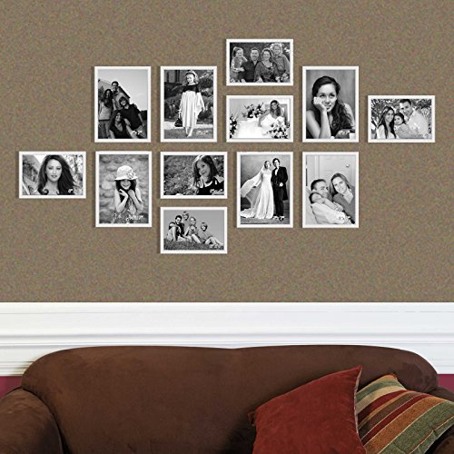 Elegant Arts & Frames High Density PVC Group of 12 White Colour Family Wall Collage Photo Frames
