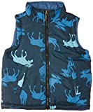 Hatley Boys Reversible Vest- Blue Moose - Chaleco para niños, color blue, talla 2 años