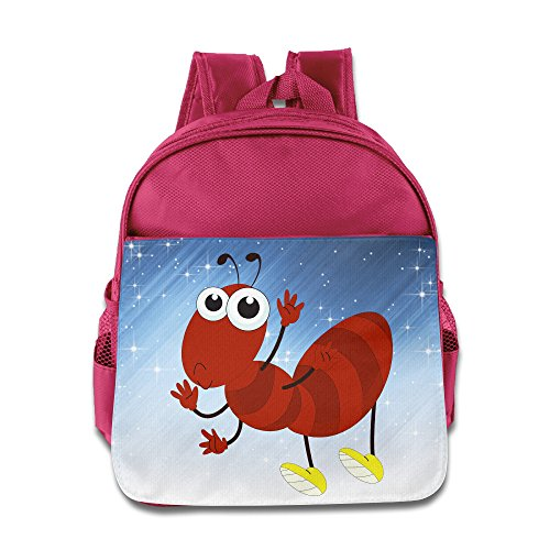 [Boomy Funny Red Ant Child Backpack For 3-6 Years Old Girls & Boys Pink Size One Size] (Little Red Ant Costume)