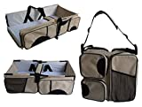 Baby Travel Bag Portable Waterproof Baby Crib Folding Bed Baby Bassinet Diaper Bag MobileBro (Cream)