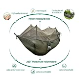 JESBAN Portable Camping Hammock with Mosquito Net Parachute Nylon Fabric Hammocks for outdoors indoor Travel(Green)