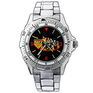 New Fashion WE31 Rock Band Kiss Army New Stainless Steel Wrist Watch