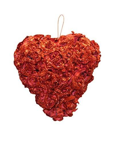 Fantastic Craft Red Glittery Rose Heart