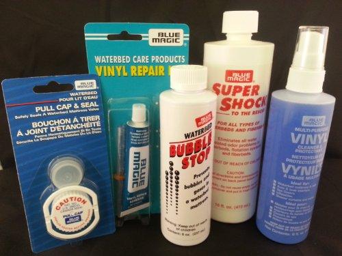 Waterbed Accessories Bundle Includes Bubble Stop Aqua Shock Vinyl Cleaner Vinyl Repair Kit Pul Cap And Seal front-989723
