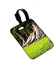 Snoogg Huge Tress Designer Luggage Tags Premium Quality Card Tags - Great For Travel