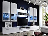 DORADE - TV CABINETS / TV STANDS / ENTERTAINMENT UNIT / TV UNIT / HIGH GLOSS/ Available in 11 colours!!! (CRISTAL), width 300cm