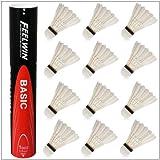 製造直販ゴルフ屋 FEEL WIN 【BASIC】 バドミントンシャトル 12個入り 709003123