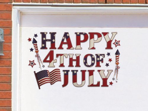 Patriotic Holiday Garage Door Magnet Set By Collections Etc