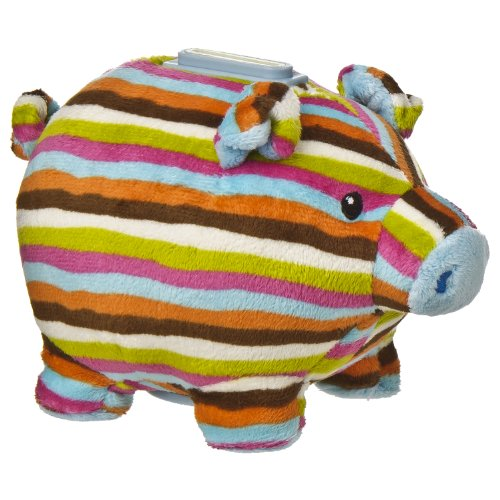 "Mary Meyer Print Pizzazz 6"" Piggy Bank Stripes Design front-872053"