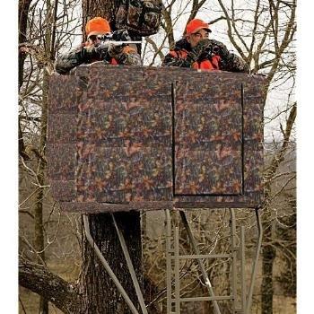camo blind for 2 man ladder