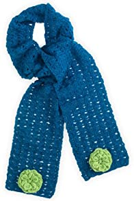 Tey-Art Rosette Hand Crocheted Scarf