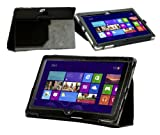 Navitech Black Faux Leather Carry Case/ Cover With Stand & Hand Strap For The Acer Iconia W510p & W511 W5 Windows RT