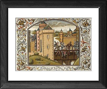 Framed Print of Jean Sans Peur Killed from Mary Evans