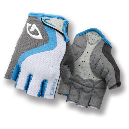 Giro Tessa Women's Gloves, White/Sky/Charcoal, Medium