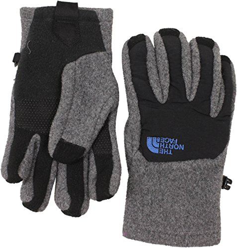The North Face Boy's Denali Etip Glove - Charcoal Grey Heather/TNF Black - Large