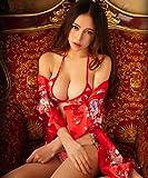 SEXY大和撫子◆花魁セクシー着物和服コスプレコスチューム衣装仮装誘惑妖艶スタイル♪(3点セット)