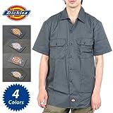(ディッキーズ)DICKIES 半袖ワークシャツ Short Sleeve Work Shirt メンズ [並行輸入品] S Charcoal