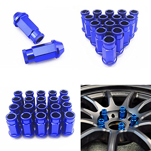 Ijdmtoy Jdm Light Blue 20 Pcs M12 X 1.5Mm Wheel Rim Lug Nuts For Acura Honda Mazda Mitsubishi Toyota Kia Hyundai, Etc