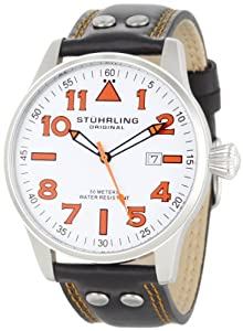 Stuhrling Original Men's 141.33152 Sportsman's 'Eagle' Swiss Quartz Date Watch