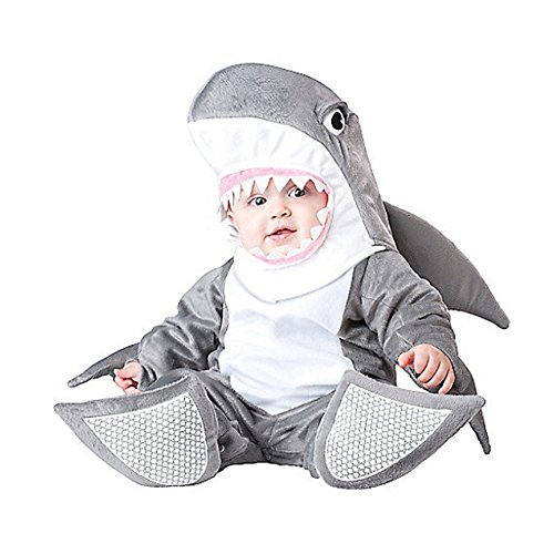 XWHT Baby's Costumes Infant Silly Shark Outfits Onesie Pajama