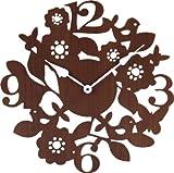 不二貿易 壁掛け 時計 フォレスト ブラウン 56922