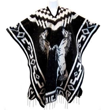 Amazon.com: Authentic Mexican Poncho Reversible Cobija Blanket