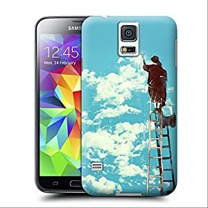 com: Unique Phone Case Personalities pattern painting clouds graffiti