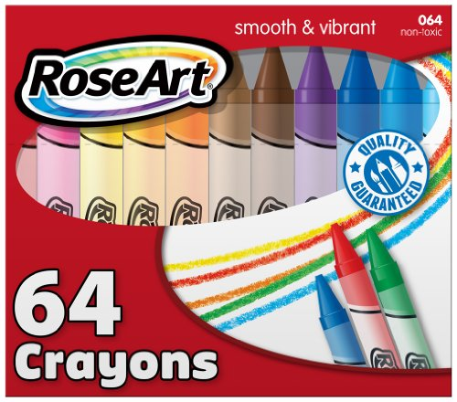 RoseArt 64-Count Crayons, Packaging May Vary (CYR96)