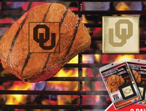 Fanmats Team Support Outdoor BBQ Grill Kitchen Accessories University Of Oklahoma Collage Sports Logo Fanbrand 2 Pack