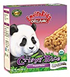 EnviroKidz Organic Panda Crispy Rice Bars, Peanut Butter, 6-Count Bars (Pack of 6)