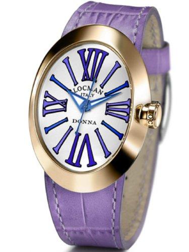 Locman - 04102NAGVTBLPSV-W-B - Montre Femme - Quartz Analogique - Bracelet cuir Violet