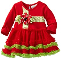 Rare Editions Baby-Girls Newborn Tutu Dress, Red/Lime, 6 Months