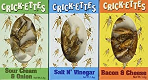 ComputerGear Real Crickets to Eat Crick-ettes Snack Pack (6)