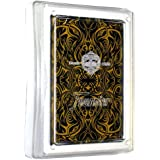 Fournier Tribus Poker Size Standard Index Playing Cards (Black Gold)