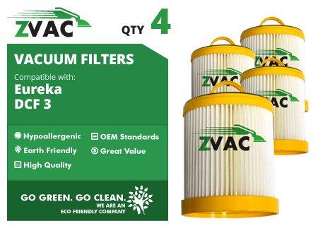 Eureka Eureka DCF-3 HEPA Filters - 4 Pack - Similar to Eureka Part# 61825, 62136, 62136A, DCF3 - Made by ...