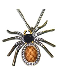 GirlZ! Fashion Specially Gemmed Personality Spider Necklace Pendant With Chain