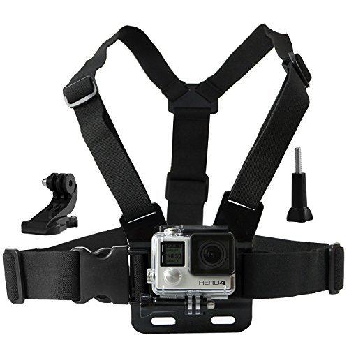 Imbracatura per GoPro CamKix / Imbracatura torso regolabile compatibile con GoPro Hero5, Hero4, Hero3+, Hero3, Hero2, e Hero Camera - 1 Gancio a J, 1 Vite a Galletto, 1 Borsa con chiusura a cordoncino CamKix inclusi