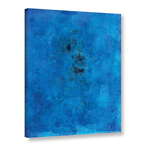 "ArtWall Elana Ray's Blue Grunge Gallery Wrapped Canvas, 14 x 18"", Multicolor"