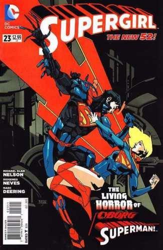 [SUPERGIRL #23 NM BATTLES CYBORG SUPERMAN STORY THIS FALL POWER GIRL SUPERBOY Ap] (Superboy Costume Cosplay)
