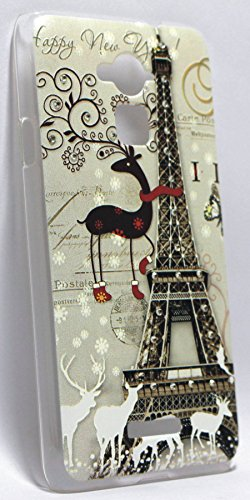 Cute Diamond Eiffel Tower Print Hard Back Case Cover For Coolpad Note 3