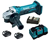 MAKITA 18V LXT BGA452 BGA452Z BGA452RFE ANGLE GRINDER, 2 x BL1830 BATTERIES, DC18RC CHARGER AND LXT400 BAG - PF TRADE