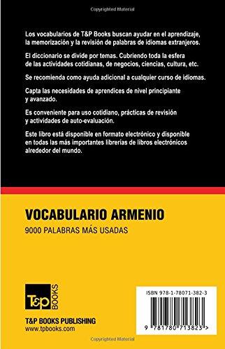 Vocabulario español-armenio - 9000 palabras más usadas (T&P Books)