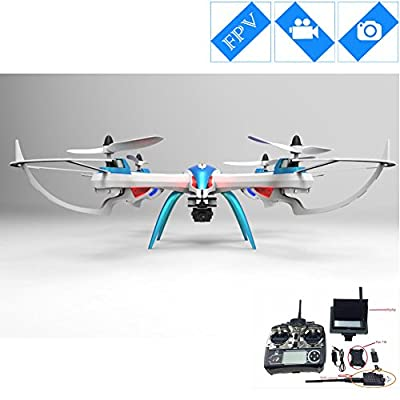 Special-edition Drone with Camera 5MP HD Camera Remote Control FPV Quadcopter -Blue & White