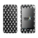 YOUNiiK Styling Skin Sticker Cover for HTC Desire Z - Metallics Silver Pirat