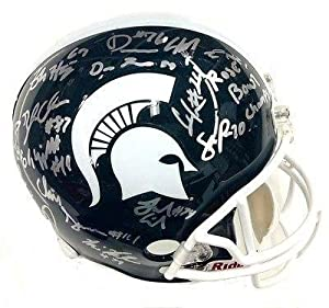 2013 Michigan State Spartans Team Signed Full Size Helmet Psa dna Coa
